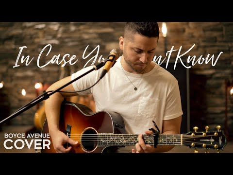 In Case You Didn't Know Brett Young Acoustic Cover