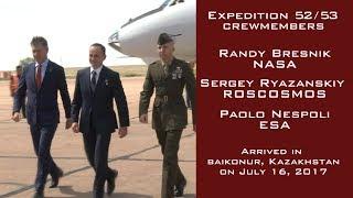 At the Baikonur Cosmodrome in Kazakhstan, Expedition 52-53 Soyuz Commander Sergey Ryazanskiy of Roscosmos and Flight...
