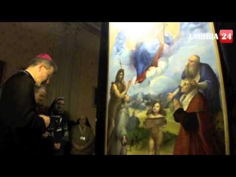 Madonna di Foligno di Raffaello, la preghiera del vescovo e l'inaugurazione della mostra
