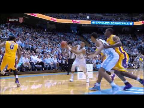 JP Tokoto Dunk Contest - Junior forward J.P. Tokoto takes two steps and slams the ball on this thunderous dunk in UNC's 108 to 64 win over ECU on December 7, 2014.