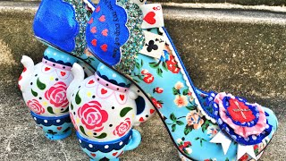 ALICE IN WONDERLAND SHOES! - MAD TEA PARTY! by GRAV3YARDGIRL