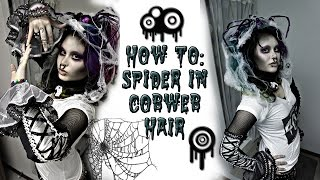 How To: Spider In Cobweb Hair