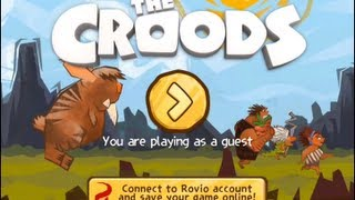 Let's Play: The Croods Game - New Gameplay Makers Of Angry Birds - Rovio First Look! IOS Iphone IPad