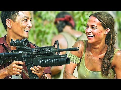 TOMB RAIDER Trailer + Bloopers ✩ Alicia Vikander, Lara Croft Movie HD
