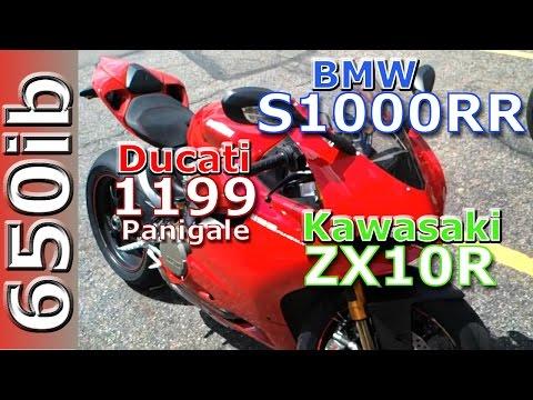 2012 BMW S1000RR vs 2012 Ducati Panigale vs Kawasaki zx10R walkaround