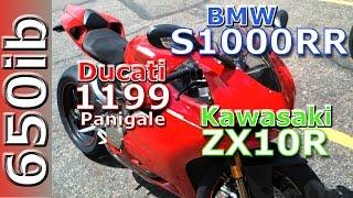 9. 2012 BMW S1000RR vs 2012 Ducati Panigale vs Kawasaki zx10R walkaround