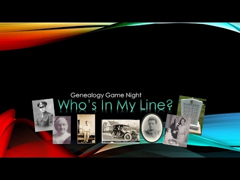 Genealogy Game Night - 8 Oct 2016
