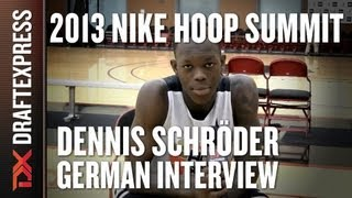 2013 Nike Hoop Summit - Dennis Schroder - Interview in German