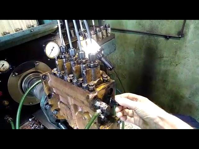Бульдозер Т-130 ремонт регулировка ТНВД Д-160 насоса