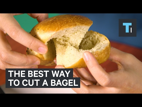 A mathematician explains how to cut the stupidest fucking bagel