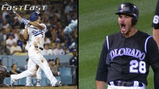Corey Seager blasts three home runs in a 12-0 win, plus Nolan Arenado drills a clutch triple to lift the Rockies Check out ...