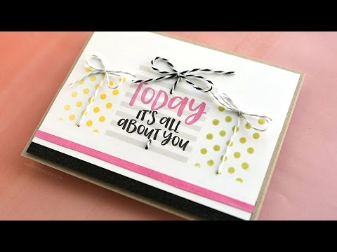 Stamped Pattern Gift Boxes Birthday Card (видео)