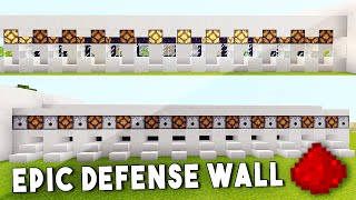 ULTIMATE REDSTONE DEFENSE WALL IN MCPE [ Redstone Tutorial ] - Minecraft PE (Pocket Edition)
