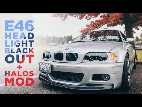 $20 E46 Mod: Blacked out headlights + Halo Install - LINKS IN DESCRIPTION