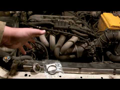 Замена термостата тойота авенсис видео
