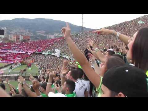 CÁNTICOS LOS DEL SUR | Nacional 1 - Medelllin 2, Fecha 18 Liga Águila 2016-I - Los del Sur - Atlético Nacional
