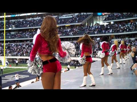 Dallas Cowboys Cheerleaders America's Sweethearts Dance in Front of Fans