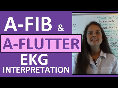 How to Interpret Heart Rhythms on EKG Strips | How to tell the difference between A-fib & A-flutter