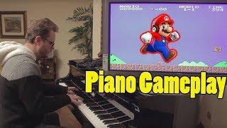 Chơi nhạc game Mario cực chất bằng piano