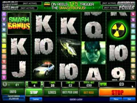 The Incredible Hulk Slot Game – No download no registration Free  300 Casino Bonus.flv