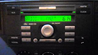 FORD TRANSIT CONNECT VAN C-MAX FOCUS 6000CD CD PLAYER RADIO AUX -NO CODE V212082