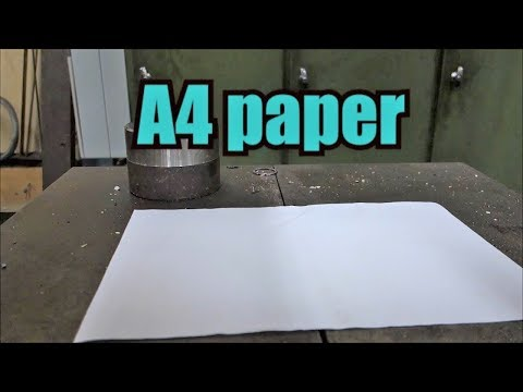 Can you fold paper more than 7 times with hydraulic