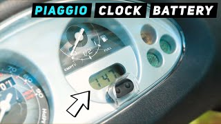 7. Piaggio Fly - Clock Battery Replacement