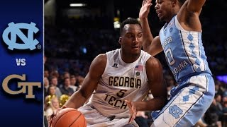 North Carolina vs. Georgia Tech Men's Basketball Highlights (2016-17)