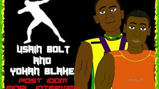 Usain Bolt&Yohan Blake (Post 100m Final Interview/ 4 X 100M/ 200M)
