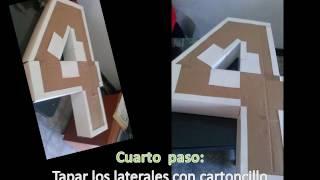 Cómo hacer una Piñata del número 4   Proceso para su elaboración
