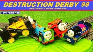 Video Thomas & Friends Destruction Derby #98 - Trackmaster toy trains competition with many accidents. MP3, 3GP, MP4, WEBM, AVI, FLV Agustus 2018