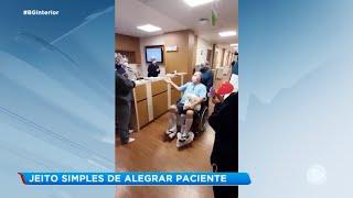 Enfermeiro compartilha ideia para alegrar pacientes de hospitais