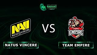 Natus Vincere vs Team Empire - RU @Map1 | Dota 2 Tug of War: Radiant | WePlay!