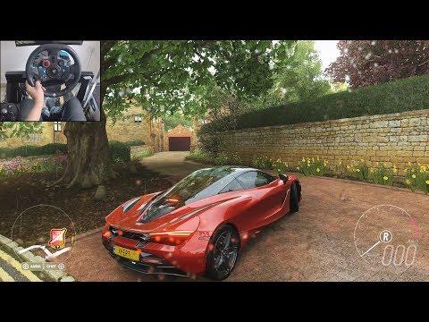 McLaren 720s - Forza Horizon 4 | Logitech g29 gameplay