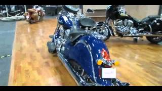 3. 2014 Indian Chief Classic Springfield Blue Walkaround