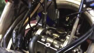 4. How to do valve clearance & adjustment on Honda crf 450 x Part 1