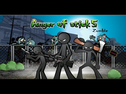 《Anger of stick 5 : zombie》手機遊戲玩法與攻略教學!