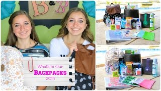 What's in Our Backpacks 2014 | Back-to-School Supplies