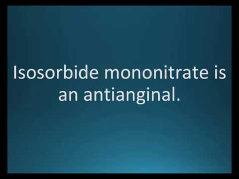How to pronounce isosorbide mononitrate (Ismo) (Memorizing Pharmacology Flashcard)