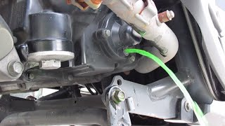 8. Kymco People GT 300i scooter how to replace coolant & change antifreeze