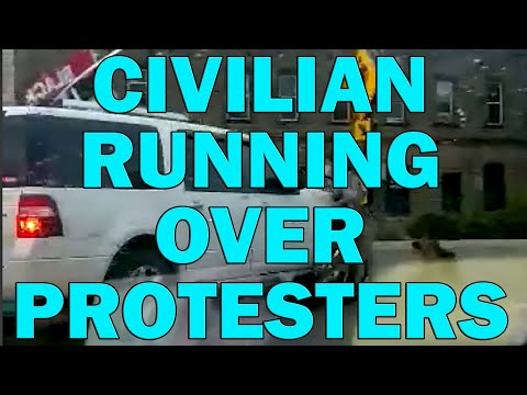 Civilian Arrested For Running Over Protesters On Video - LEO Round Table S05E38d