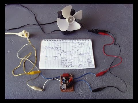 Temperature Controlled Triac Circuit(Motors/Fans/Heaters+)