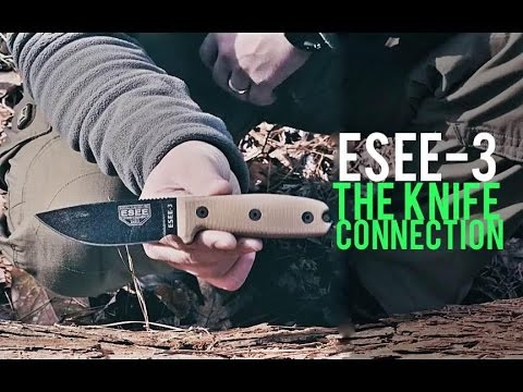 The Knife Connection (Compact Handles) ESEE-3 Review