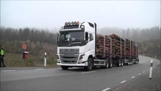 Testy hamowania ciężarówki z masą 90 ton