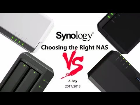 Synology 2-Bay Comparison 2017 and 2018 featuring the DS218j v DS218play v DS218+ v DS718+