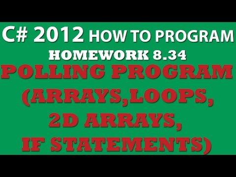 C#: Polling Program (Ex 8-34): 2D arrays, Loops, Conditional Statements