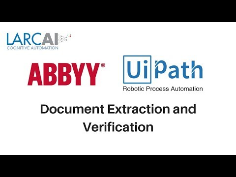 UiPath ABBYY  Document Extraction and Verification