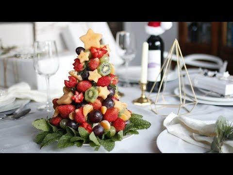 DIY CHRISTMAS FRUIT TREE | HOW TO MAKE EDIBLE FRUIT ARRANGEMENT (видео)