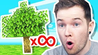 I Planted INFINITE TREES in Minecraft Hardcore! #TeamTrees