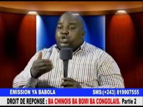 TÉLÉ 24 LIVE: Ba chinois ba bomi ba congolais : Droit de réponse des chinois partie 2